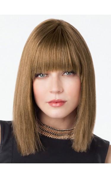 Schulter-Länge Elegant Glatt Lace Front 100% Remy Echthaar Perücke