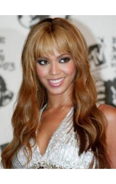 Beyonce Lang Wellig Promi Perücken