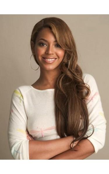 Fabelhaft Beyonce Haarstil Lang Wellig Vollspitze Remy Echthaar